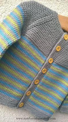 Baby Knitting Patterns Ravelry: Project Gallery for garter yoke baby cardi pattern ... #KnittingForFun