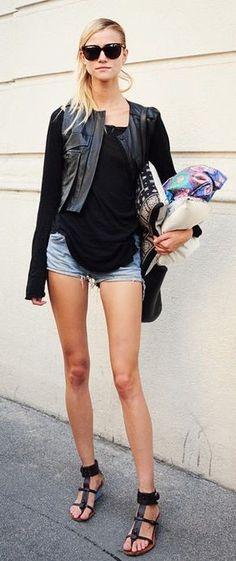 #summer #fashion / summer in black