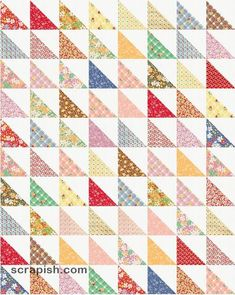 New Half Triangle Square Quilt Patterns Inspiration – Quilt Design Creations Charm Pack Quilt Patterns, Charm Pack Quilts, Charm Quilt, Patchwork Quilt Patterns, Beginner Quilt Patterns, Quilting Patterns, Triangle Quilt Tutorials, Half Square Triangle Quilts Pattern, Charm Square Quilt