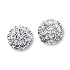 Elegant and classy, these cluster diamond earrings will wow Mom this Mother's Day.