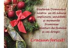 Felicitare Craciun urare Christmas Wreaths, Merry Christmas, Xmas Cards, Holidays And Events, Messages, Seasons, Holiday Decor, Lounges, Winter