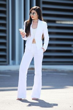 The Pantsuit | Victoria's Vision all white pantsuit.  luxury fashion blogger. fashion blog.  Spring 2016 trends. Miami Fashion blogger
