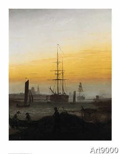 Caspar David Friedrich - Der Greifswalder Hafen (70,0 x 90,0 cm)