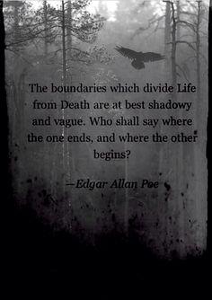 Edgar Allen Poe quote- Crows, Darkness, Wallpaper.
