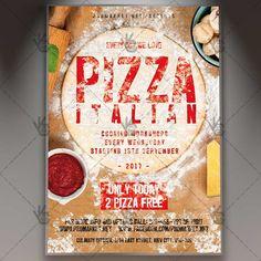 Pizza Italian - Premium Flyer PSD Template. #italian #italianpizzaflyer #italiano #pizza #pizzaadvertising #pizzaoffer #pizzarestaurant #pizzaslice #pizzeria #pizzeriamenu #print #promotion DOWNLOAD PSD TEMPLATE HERE: https://www.psdmarket.net/shop/pizza-italian-premium-flyer-psd-template/ MORE FREE AND PREMIUM PSD TEMPLATES: https://www.psdmarket.net/shop/