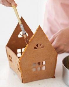 "gingerbread house technique-caramel as the ""glue"", good idea"