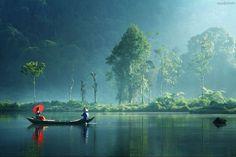 Лодка на реке, Вьетнам #tuanlinhtravel #виза #вьетнам www.vietnam-visa-service.com/Russian/