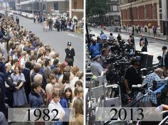 Royal Birth watch - 1982 and 2013.