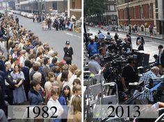 Royal Birth watch - 1982 and 2013. @Alexandra S