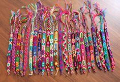 Friendship bracelet whosale set of 100, 24, 12 or 6 pieces / boho gypsy hippie bracelet / embroidered bracelet / knotted handmade bracelet