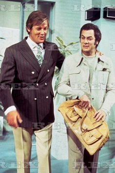 Tony Curtis and Roger Moore