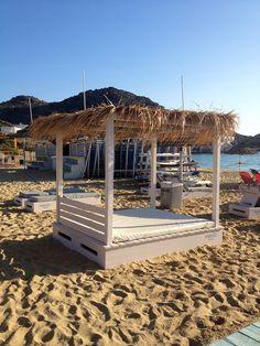 * Farout Beach Hotel beach in Ios, Greece | Sara Russell Interiors