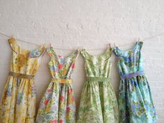 an eclectic quartet  A tea dress collection... by sohomode on Etsy, $450.00