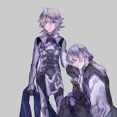 Fire Emblem Fates Corrin/Kamui and Jakob/Joker