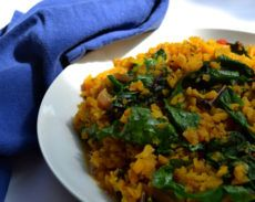 Breakfast Risotto with Greens
