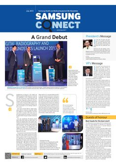 This is a customer connect newsletter designed for Samsung HME.