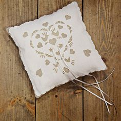 Ring pillow wedding ring cushion linen and by BaloolahBunting
