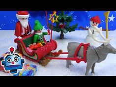 Playmobil Maletín Trineo de Papá Noel 5956 Holiday Carrying Case Playset - Juguetes de Playmobil - YouTube