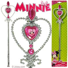 DISNEY'S MINNIE BOW-TIQUE WAND. With faceted faux gems and a mini portrait of Minnie, these will delight any Disneyholic. Each display carded. Perfect for party favors and Christmas stocking stuffers. Size 12.5 Inches, packaging 15 X 35 Inches