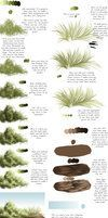 Learn HOW TO DRAWN shrubs, grasses and soil material. by deviantART