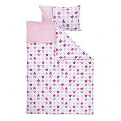 Kinderbettwäsche Mixed Stars Pink 100x135cm und 40x60cm