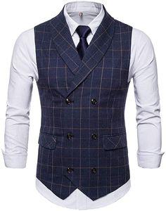 Passt nicht Mens Suit Vest, Blazer Vest, Mens Suits, Pepe Jeans, Men's Jeans, Double Breasted Waistcoat, Men's Waistcoat, Smart Casual Men, Pullover