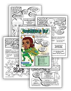 "Can be done in one meeting  Perfect for mixed level Daisy and Brownie troops  Suitable for independent Girl Scouts  Download link will be in your order confirmation email.  Complete this five-page comic download and Brownies have earned their Household Elf badge and Daisies have earned the green ""Use Resources Wisely"" petal.…"