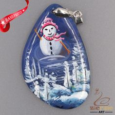 JEWELRY NECKLACE HAND PAINTED SCENERY GEMSTONE PENDANT BEAD ZL8012736 #ZL #PENDANT