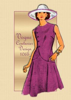 1970s Sewing Pattern Vogue 1065 Couturier