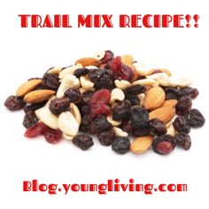 Looking for a healthy snack to take on-the-go? Check out our Happy Trail Mix recipe on the blog!! Your kids will love helping you make it!  www.blog.youngliving.com