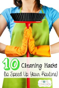 Cleaning is not something anyone looks forward to. With these 10 cleaning hacks to speed your routine, you will have more time to enjoy a clean home again!