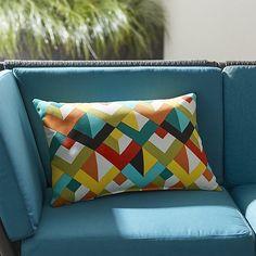Gems Outdoor Lumbar Pillow | Crate and Barrel