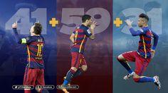 MSN goals   #fcblive #fcb #fcbarcelona #copafcb #campionsfcb