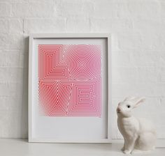 great poster by Yeah No Yeah and the pervasive and adorable bunny lamp!