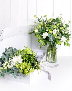 Flower Box Bountiful - Whites & Greens