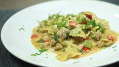 Kuřecí kousky v těstovinách z jedné pánve Risotto, Spaghetti, Ethnic Recipes, Food, Essen, Meals, Yemek, Noodle, Eten