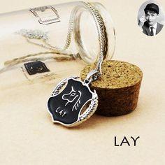 EXO Member Enamel Shield Pendant Necklace