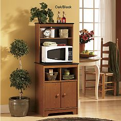 Charmant Microwave Stand With Hutch