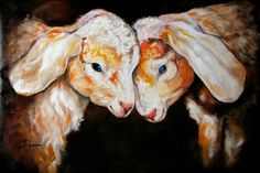 """Two Little Goats"" par Marcia Baldwin"