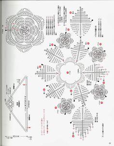 giftjap.info - Интернет-магазин   Japanese book and magazine handicrafts - Rose motif shawl & stall 2013