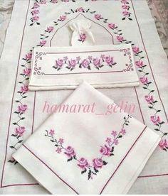 Etamin Prayer Rug, Napkins, Cross Stitch, Embroidery, Sewing, Cross Stitch Borders, Towels, Handmade Crafts, Blue Nails