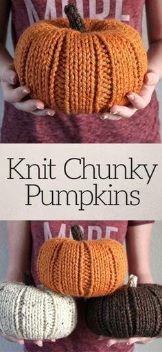 Knit Chunky Pumpkins, Fall Decor, Knit Pumpkins, Halloween Decor, Thanksgiving Decor, Pumpkin Decor, Housewarming Gift, Rustic Thanksgiving #ad #affiliatelink