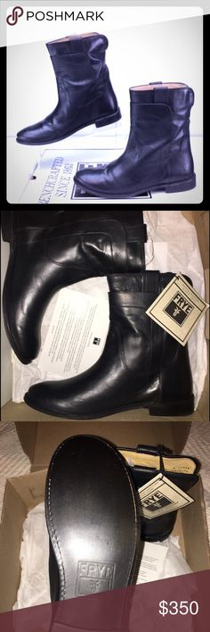 🆕 Frye Paige Short Riding Boots size 8M ✨SALE!✨ NWT/Box Frye black leather Paige short riding boots. I purchased these directly from the Frye website over two years ago. Tried on once on my carpet. Comes with everything I received (box/care card) Please view all photos and ask any questions you may have prior to purchasing. ❌trades❌ Frye Shoes Ankle Boots & Booties