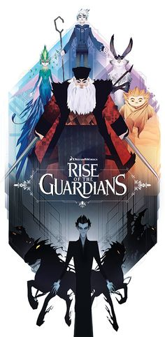 Alternate poster art for the Rise of the Guardians