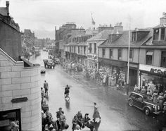 High Street, Ayr 1950 Where my father's parents hail from. Ayr Scotland, Places In Scotland, Scotland Travel, Scotland Trip, Arran, British Isles, Glasgow, Old Photos, Beautiful Pictures