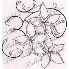 Hawaiian Flower Tattoos Orchid Plumeria And Hibiscus Tattoo
