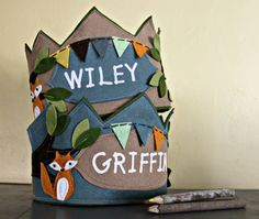 Fox and Bunting Birthday Crown by maureencracknell on Etsy, $28.00