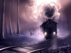 These surreal fantasy universes inspired by tim burton and hayao miyazaki are absolutely breathtaking Hayao Miyazaki, Tim Burton, Cyril Rolando, Mystery Theater, Photoshop, Beautiful Gif, Digital Illustration, Les Oeuvres, Scenery