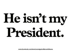 Obama may be in office BUT he doesn't speak for me