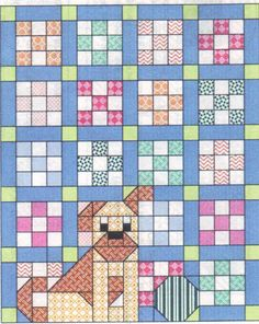 There's A Dog On My Quilt Pattern by crittercountry on Etsy